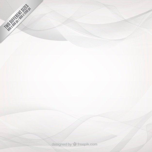 Grey waves background Free Vector