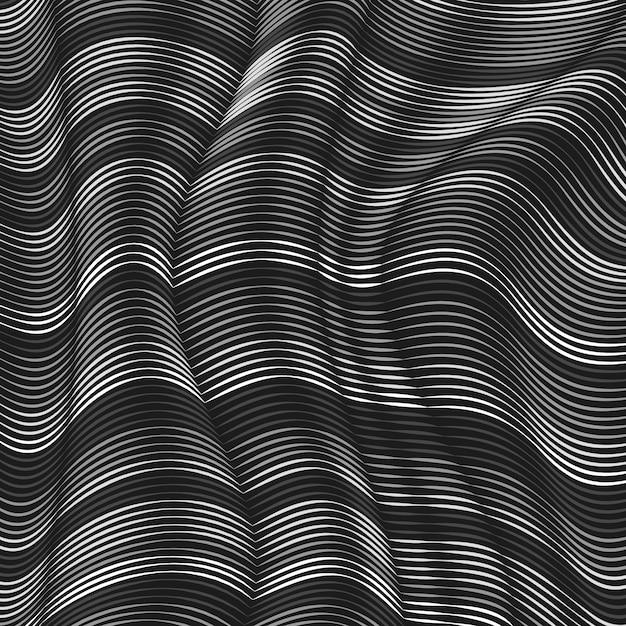 Sfondo grigio linee ondulate Vettore gratuito