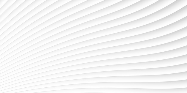 Grey white waves and lines pattern Premium Vector