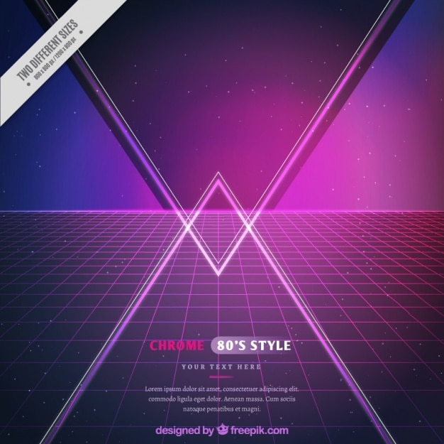 Grid background with triangles Free Vector