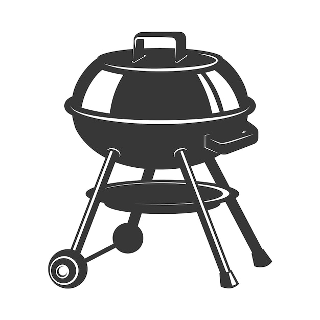 Grill icon  on white background.  elements for logo, label, emblem, sign, badge.  illustration Premium Vector