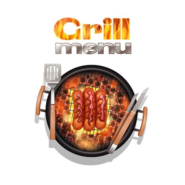 Grill menu design concept Free Vector