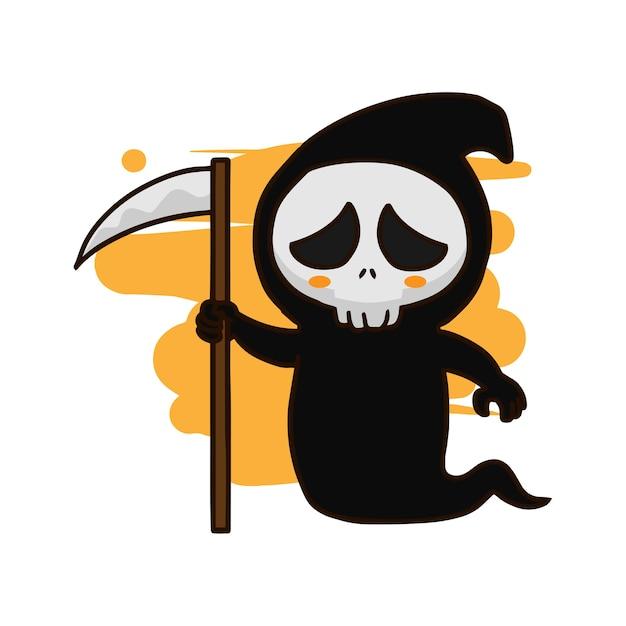 Grim reaper hand drawn vector Premium Vector