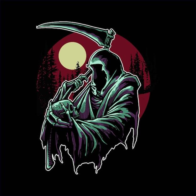 暗闇の中で死神 Premiumベクター