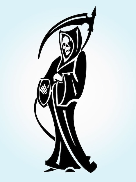Grim Reaper Tattoo Vector Illustration Vector Free Download