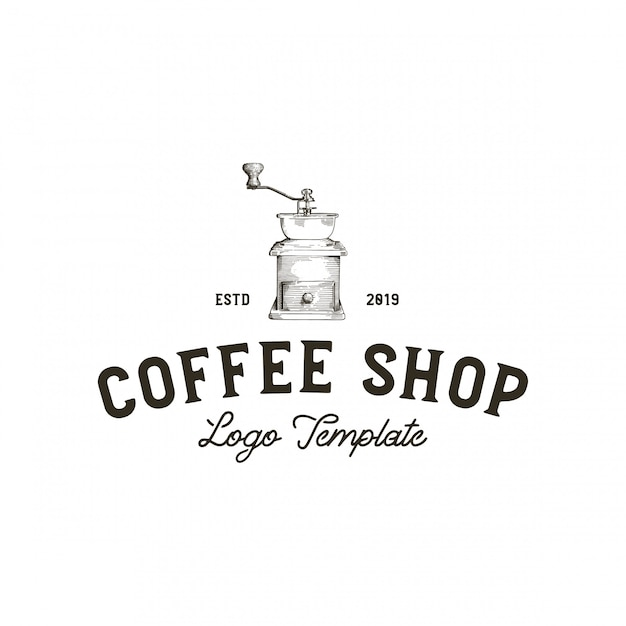Grinder coffee shop Premium Vector