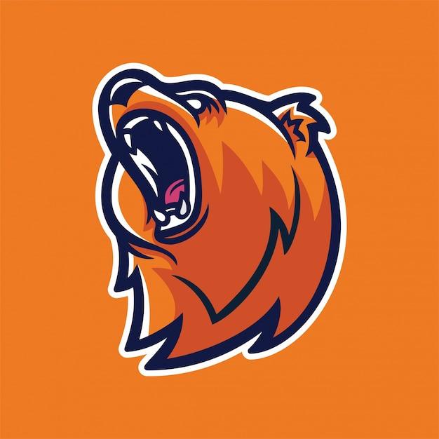grizzly bear mascot logo template vector premium download rh freepik com bear cub mascot clipart Bear Clip Art