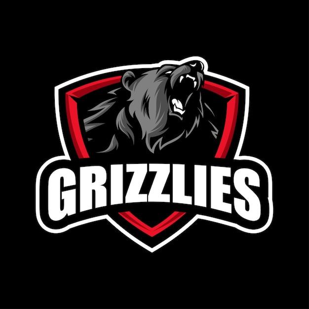 Grizzly bear mascot Premium Vector
