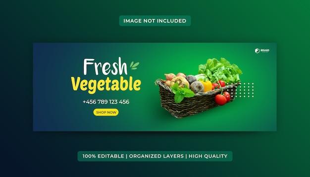 Grocery food facebook cover design template Premium Vector