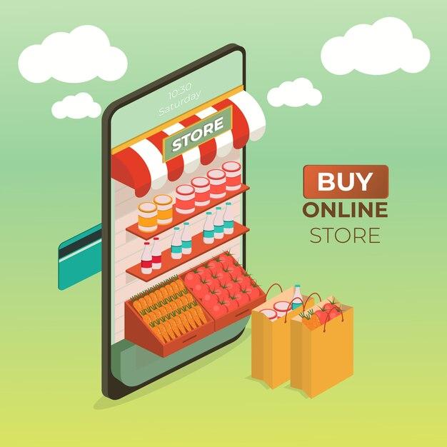 Grocery store Premium Vector