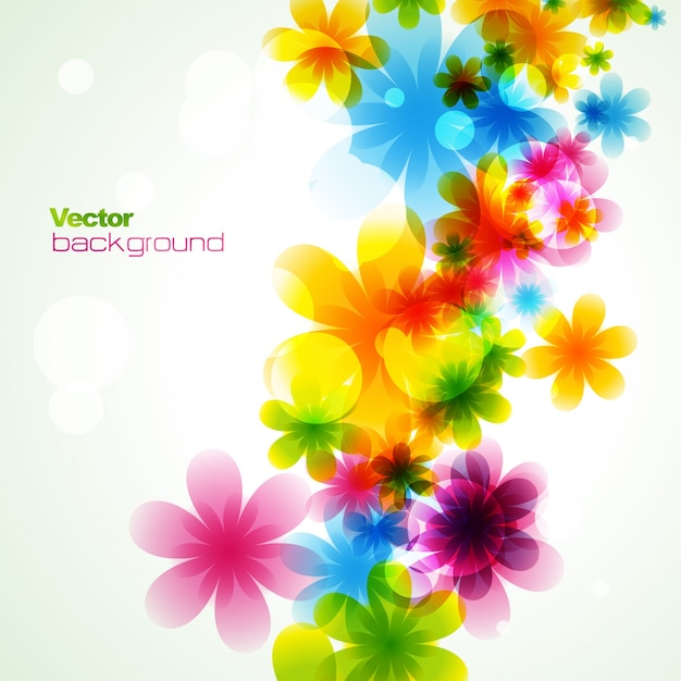 Groovy Modern Floral Background Vector Free Download