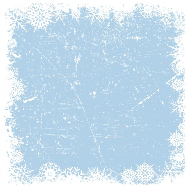 Grounge snowflakes frame on iced background Free Vector