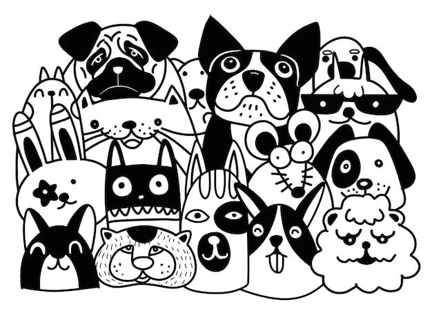 Vector Line Art Animals : Celtic style animals on black background vector art thinkstock
