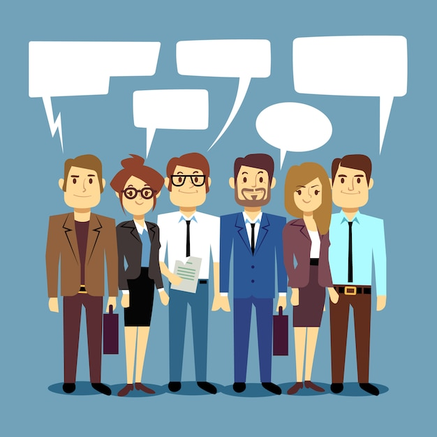 Group of business people talking Premium Vector