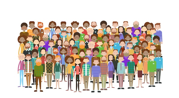 Group of business people Premium Vector