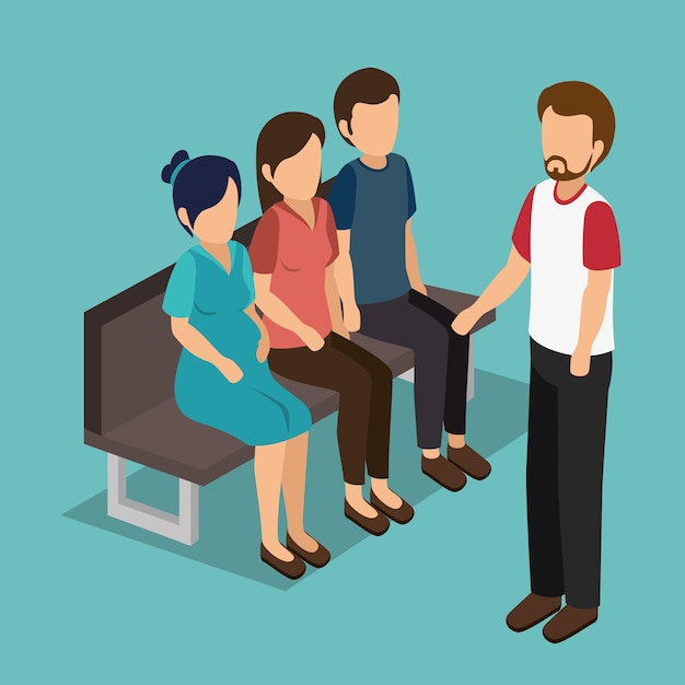 Group of businesspeople Premium Vector
