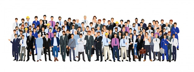 Group of man Free Vector