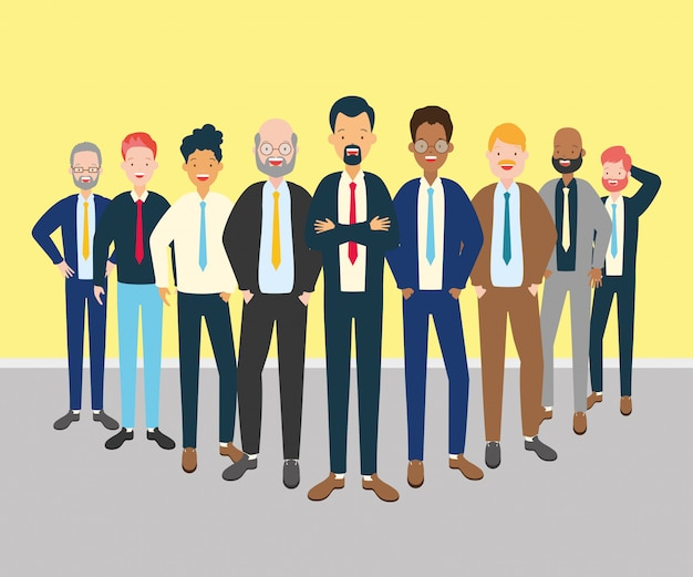 Group of men Free Vector