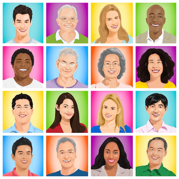 group of people  Free Vector