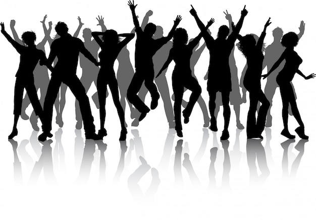 Group of party people Free Vector