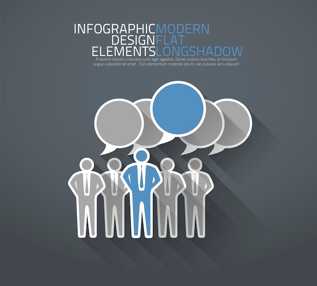 Group of people discussing together vector Premium Vector