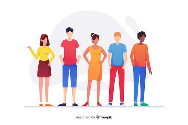 Group of people from different races Free Vector