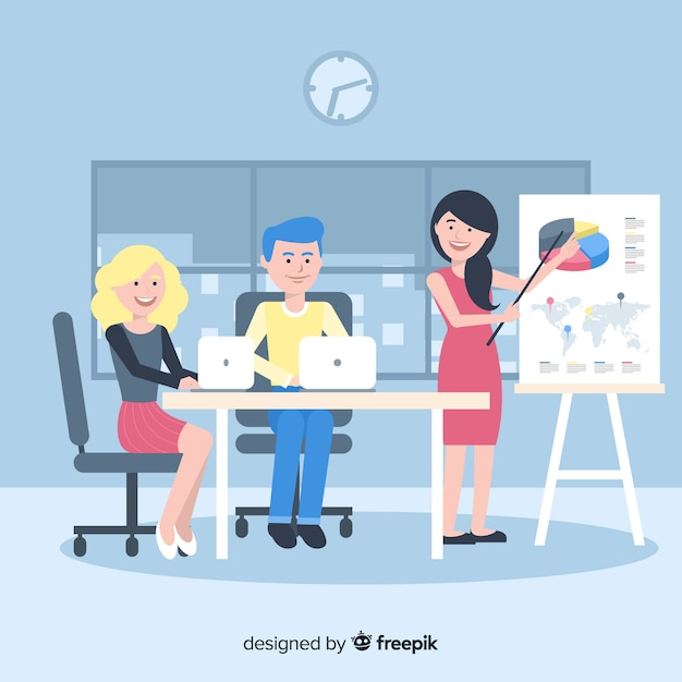 Group of people working at the office Vector | Free Download