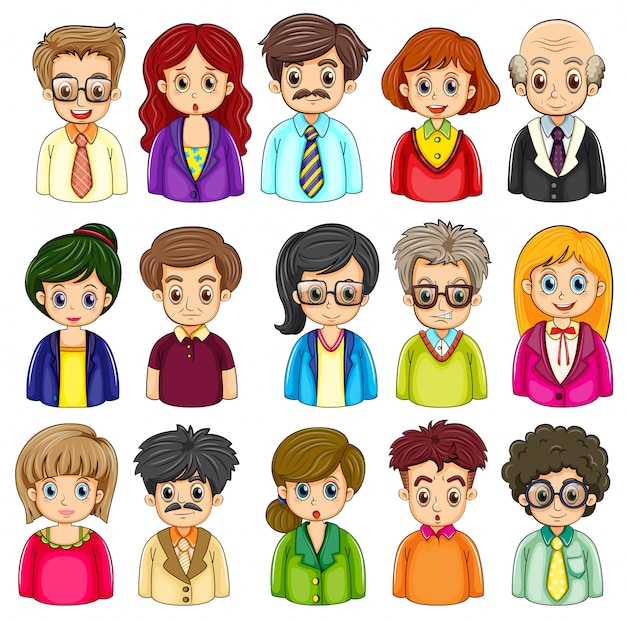 A group of people Free Vector