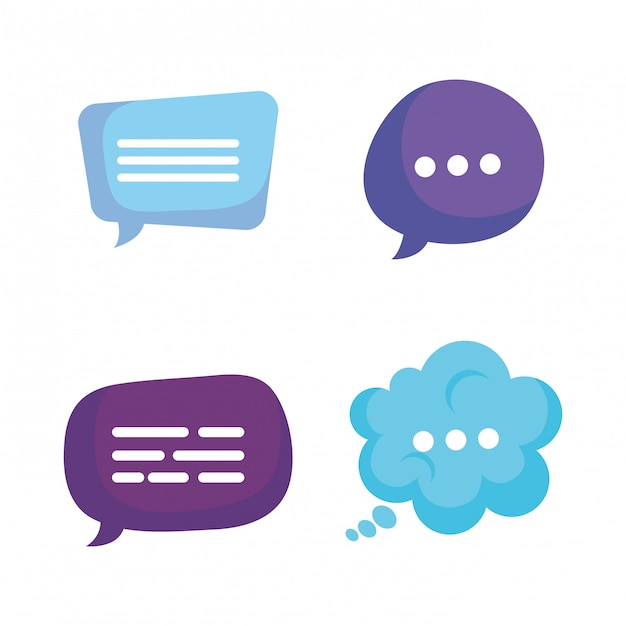Group of speech bubbles Free Vector