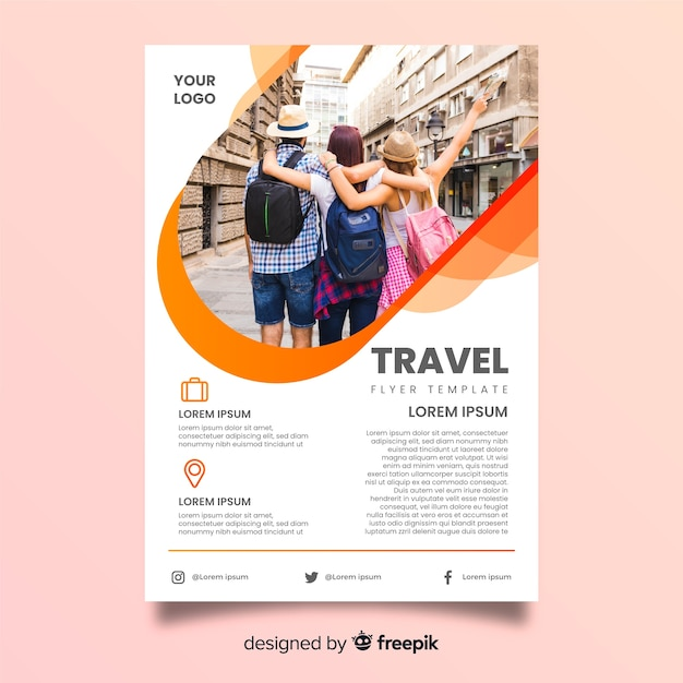 Group of traveling friends on holiday Free Vector