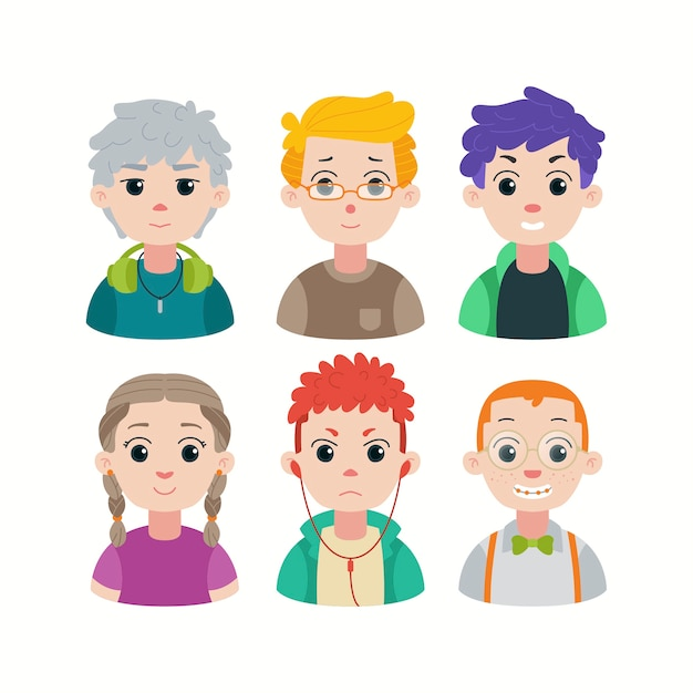Group of young people diversity Free Vector