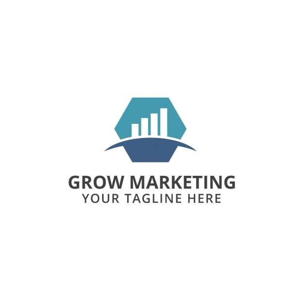 grow marketing logo vector free download