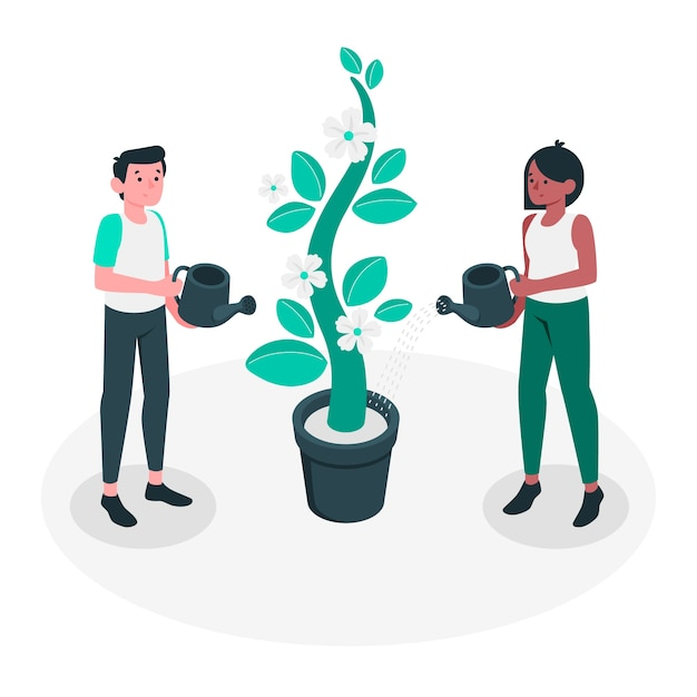 Growing concept illustration Free Vector
