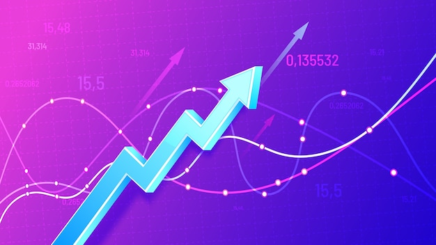 Growing financial schedule 3d arrow Free Vector