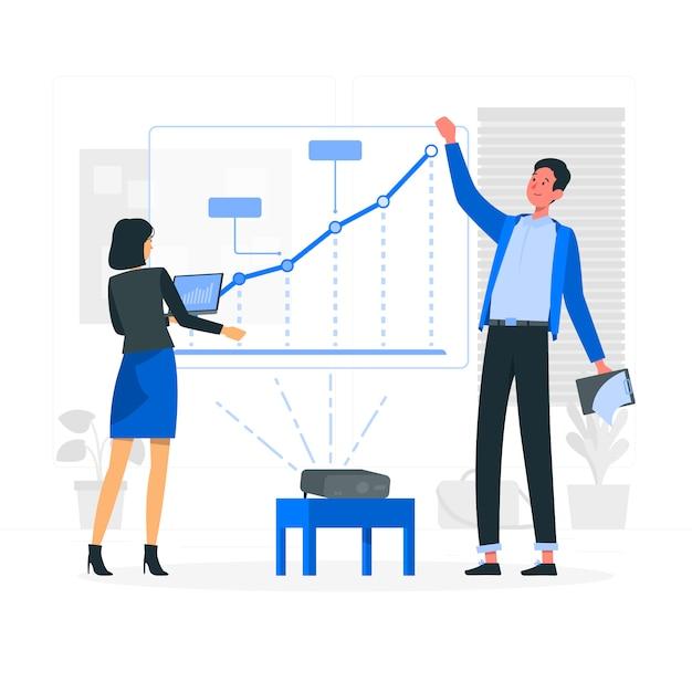 成長分析の概念図 無料ベクター
