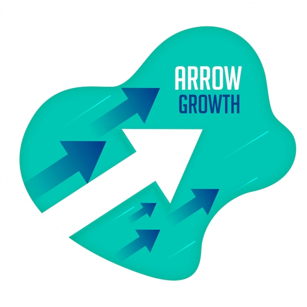Growth arrows moving forward direction concept Free Vector