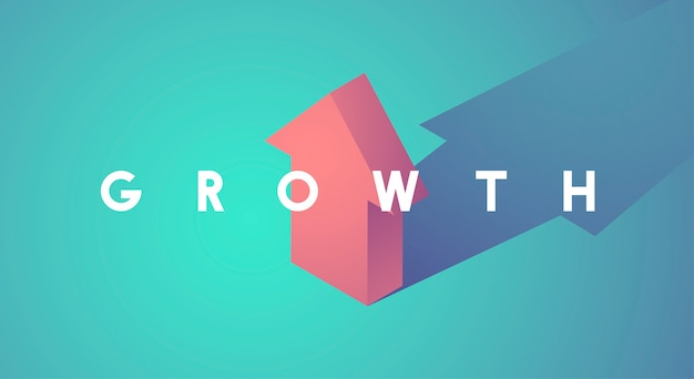 Growth improvement increase arrow up icon Free Vector