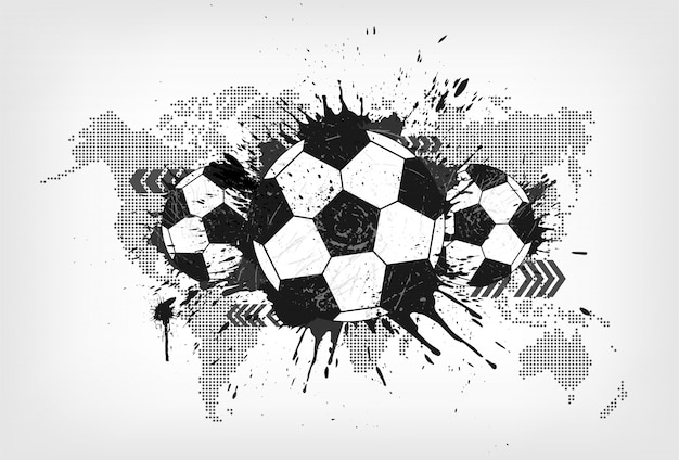 Grunge abstract football with world map and dust particle on gray grunge abstract football with world map and dust particle on gray gradient background premium vector gumiabroncs Choice Image