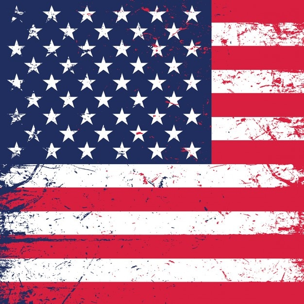Grunge american flag background ideal for independence day Free Vector