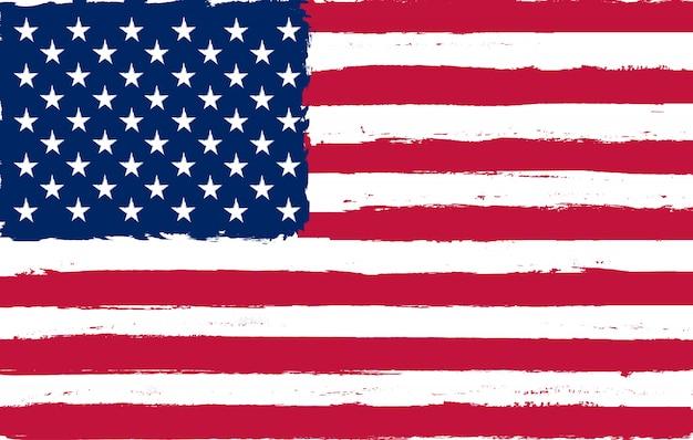 グランジアメリカ国旗 Premiumベクター