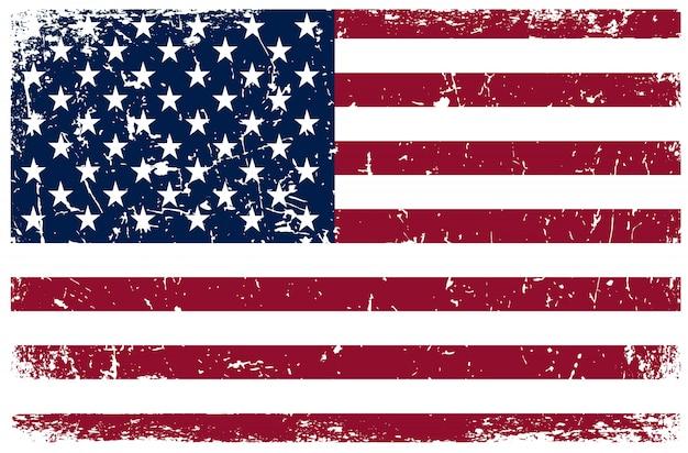 Grunge american flag Premium Vector