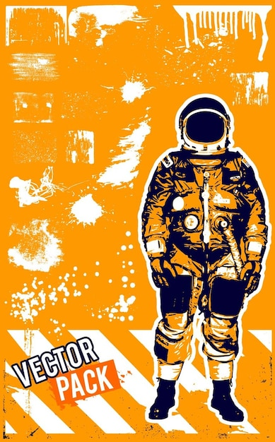 Grunge astronaut dirty texture Vector | Free Download