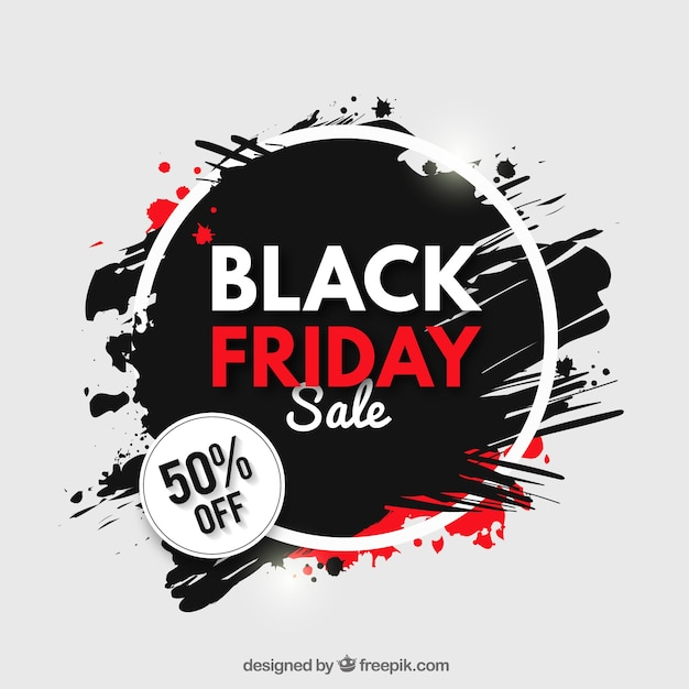 Grunge background of black friday sales Free Vector