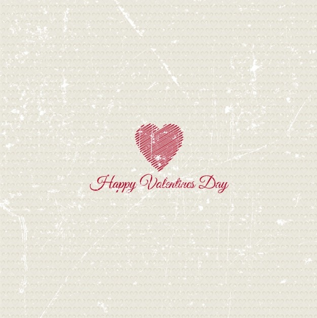 Grunge background with a cute heart Free Vector