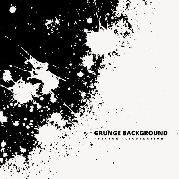 Grunge background with white spashes Free Vector