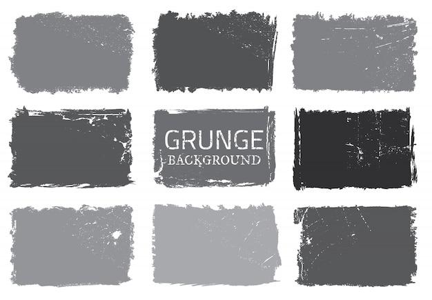 Grunge backgrounds set Premium Vector