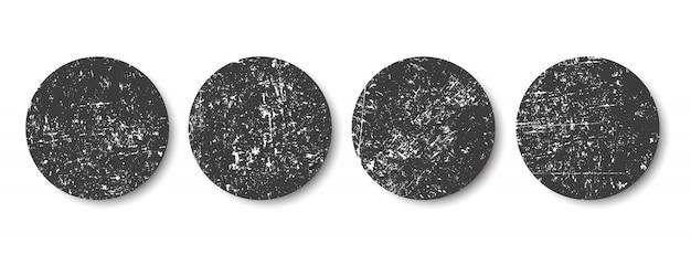 Grunge black circles Premium Vector