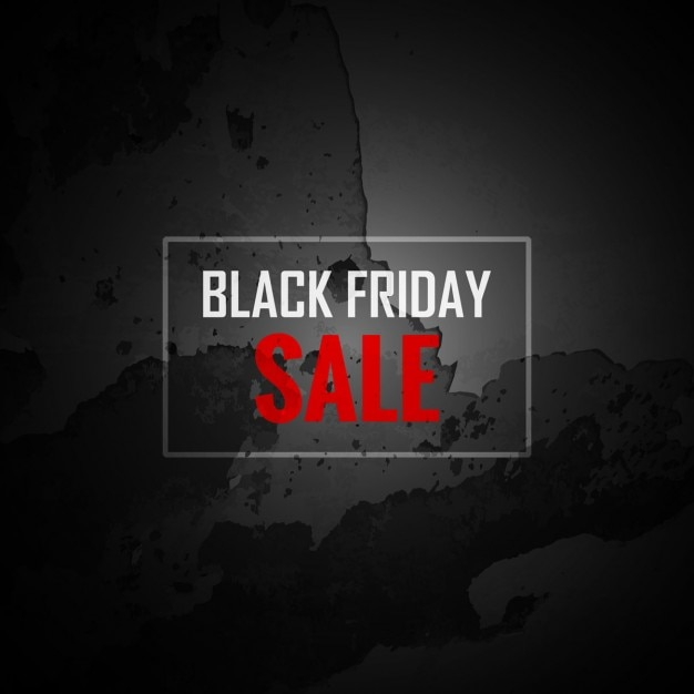 Grunge black Friday sale background Free Vector