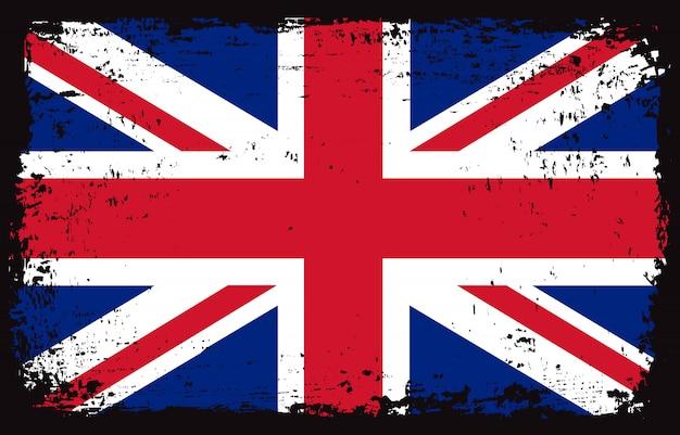 グランジ英国の旗 Premiumベクター