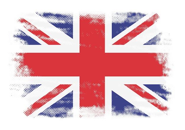 グランジイギリスの旗 Premiumベクター
